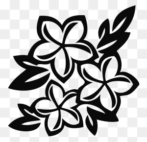 Corner Pattern Flower Png Black Designs T Shirt Designs Black - Black And White Flower PNG