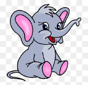 Cute Cartoon Elephants Baby Elephant - Penny Clipart