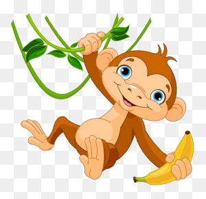 Cute Funny Cartoon Baby Monkey Clip Art Images All Monkey Cartoon - Monkey Banana Clipart