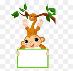 Cute Funny Cartoon Baby Monkey Clip Art Images All Monkey Cartoon - Monkey Clipart
