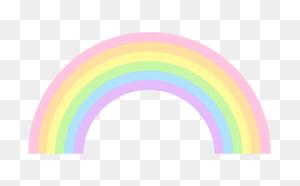 Cute Pastel Rainbow Clip Art Radiant Rainbows - Rainbow Banner Clipart