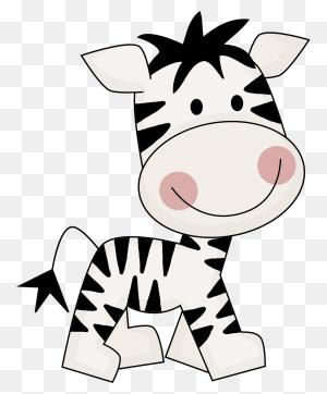 Cute Zebra Illustration - Zebra Clipart