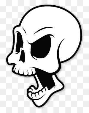 Die Epic Skull Sticker Cool Sticker, Slaps - Punisher Skull Clipart