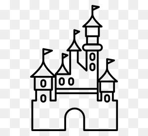 Disney, Paris, Disneyland, Castle, Buildings Icon - Disney Castle Silhouette PNG