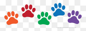 Dog Paw Print Stamps Dog Dog Paw Prints Dog Clip Art Clipartcow - Dog Footprint Clipart