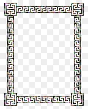 Download Greek Border Clip Art Clipart Borders And Frames Meander - Fall Borders Clip Art Free