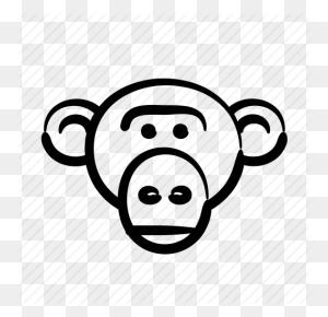 Download Monkey Clipart Drawing Clip Art Drawing, Lion, Monkey - Monkey Head Clipart