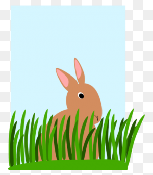 Download Rabbit In The Grass Clipart Rabbit Clip Art Rabbit - Easter Grass Clipart