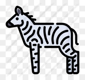Download Zebra Clipart Line Terrestrial Animal Clip Art - Zebra Clipart Black And White
