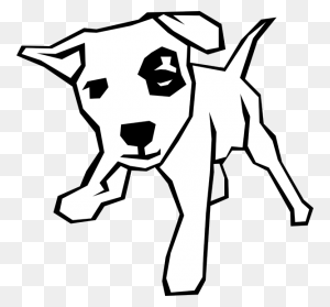 Drawings Of Dogs Dog Simple Drawing Clip Art Dogs - Playing With Dog Clipart