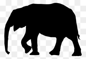 Elephants Silhouette Asian Elephant Drawing African Elephant Free - Africa Silhouette PNG
