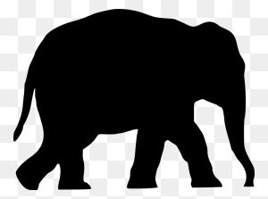 Elephants Silhouette Drawing African Elephant Hippopotamus Free - Elephant Silhouette Clipart