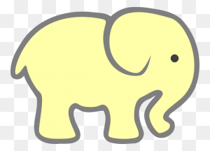 Elephants Silhouette Yellow Baby Elephant Clip Art Diy - Saliva Clipart