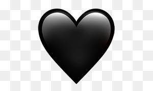 Emojis Png Black Heart On Apple Ios - Heart Emojis PNG