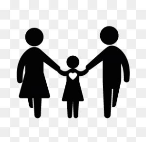 Family Silhouettes Silhouettes Of Family - Family Silhouette PNG