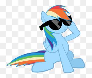 Fanmade Rainbow Dash In Sunglasses Rainbow Dash Cooler - Rainbow Dash PNG