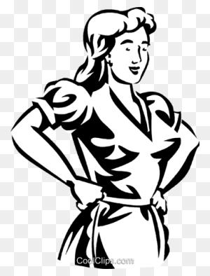Fashion Models Royalty Free Vector Clip Art Illustration - Fashion Girl Clipart