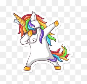 Featured Stickers Featured Stickers Stickers Design - Dabbing Unicorn PNG