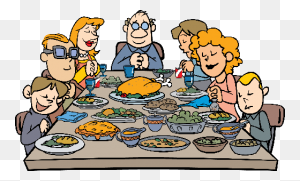 First Thanksgiving Dinner Clip Art Happy Easter Thanksgiving - Thanksgiving Clipart PNG