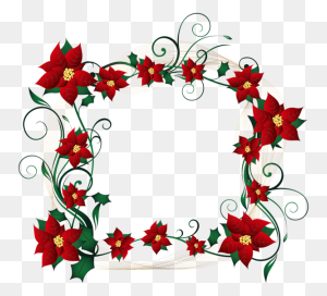 Flower Clipart Borders And Frames Decorative Borders Clip Art - Santa Border Clip Art