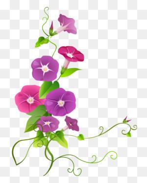 Flower Designes Art Images - Burgundy Flowers Clipart