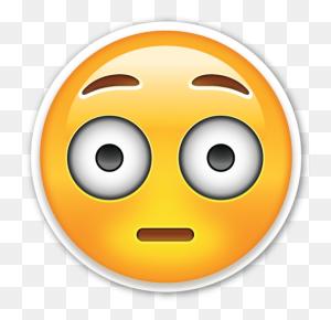 Flushed Face Emojis Emoji, Emoji Stickers And Emoticon - PNG Emojis