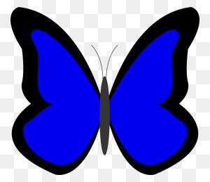 Flying Blue Butterfly Butterflies Clipart - Butterfly Clipart PNG
