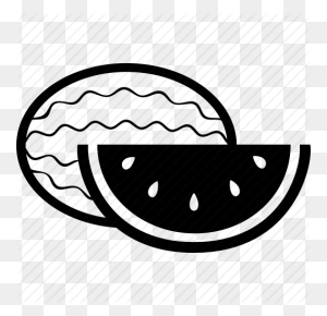Food, Fruit, Healthy, Sweet, Watermelon Icon - Watermelon Black And White Clipart