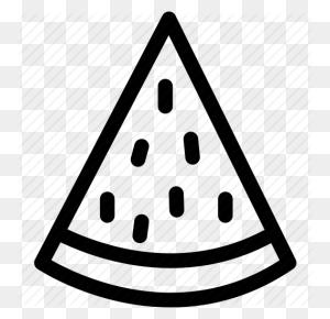 Food, Fruit, Piece Of Watermelon, Slice Of Watermelon, Watermelon - Watermelon Black And White Clipart