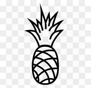 Food, Fruits, Fruits Icon, Pineapple, Pineapple Juice Icon - Black And White Pineapple Clipart