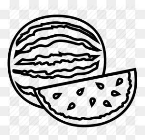Food, Fruits, Fruits Icon, Watermelon, Watermelon Juice Icon - Watermelon Black And White Clipart