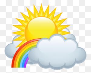 Forgetmenot Rainbow Rainbows, Clip Art - Rainbow Cloud Clipart