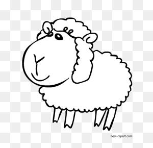Free Animals Clip Art, Farm Animals, Pet Animals, Jungle Animals - Sheep Black And White Clipart