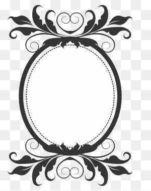 Free Black Clip Art Borders And Frames Weddings Stock Vector - Baroque Clipart