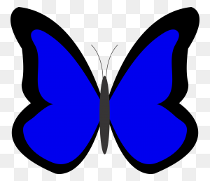 Free Butterfly Clipart Simple Blue Butterflies - Simple Butterfly Clipart