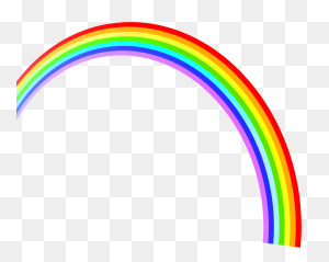 Free Clipart Rainbows Rainbow With Clouds Clipart - Rainbow Pot Of Gold Clipart