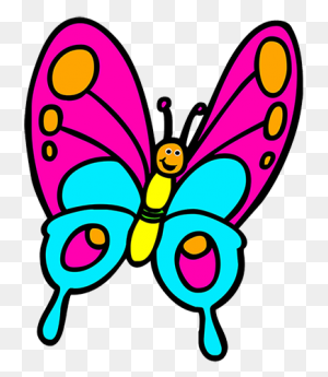 Fresh Butterfly Cartoon Image Butterfly Clip Art Butterfly Clipart - Simple Butterfly Clipart