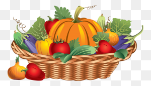 Fruits And Vegetables Basket Clipart Free - Fruits And Vegetables Clipart Black And White