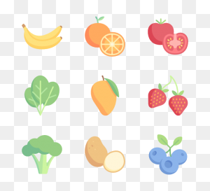 Fruits And Vegetables Free Icons - Fruits And Vegetables PNG