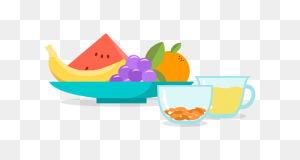 Fruits And Veggies - Fruits And Vegetables Clipart