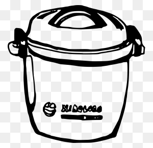 Fruits Rice Cooker Clipart Vector Clip Art Online Royalty Free - Fruits Clipart Black And White