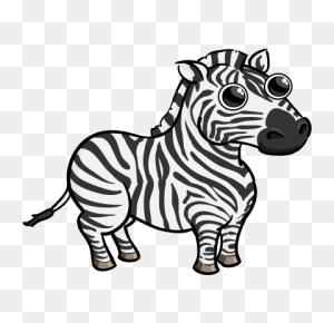 Funny Zebra Drawing Art Zebra Drawing - Zebra Clipart Black And White