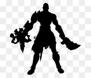 God Of War Silhouettes Silhouettes Of God Of War - Kratos PNG