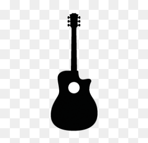 Guitar Silhouettes Silhouettes Of Guitar Free - Guitar Silhouette PNG