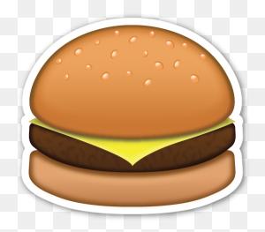 Hamburger Emojis Pegatinas Emoticonos, Emojis Y - Hamburguesa PNG