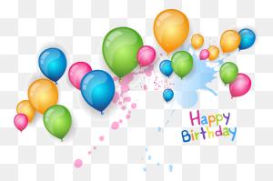 Happy Birthday Balloon Png Happy Birthday World - Happy Birthday Balloons PNG