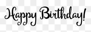 Happy Birthday Text Black And White Png Happy Birthday World - Happy Birthday Text PNG