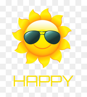 Happy' Poster Summer Designs Clip Art, Summer - First Day Of Summer Clipart