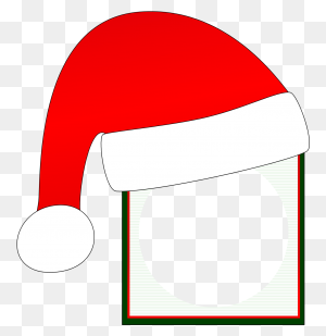 Headgear Clipart Santa Claus Santa Suit Christmas Day Santa Claus - Christmas Frame PNG