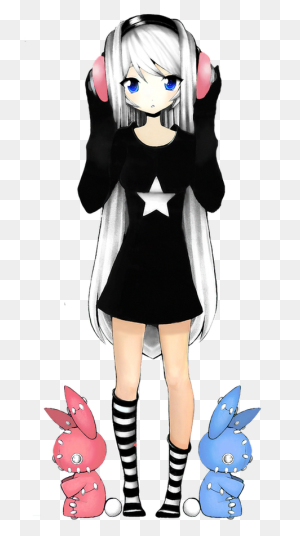 Headphones Anime, Anime Art - Cute Anime Girl PNG